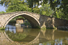 Old stone footbridge at Greece Royalty Free Stock Photography