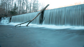 Old Stone Fort State Park Water Falls. In the winter time Royalty Free Stock Image