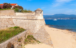 Old stone fortress on the sea cost. Corsica, France Stock Image