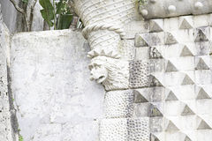 Old stone gargoyle in Portugal Stock Images