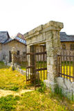 Old stone gate stock photography