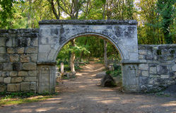 Old stone gates Stock Image