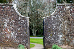 Old Stone Gateway in Country Park Royalty Free Stock Images