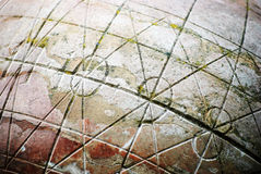 Old stone globe detail Stock Images