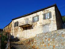 Old Stone Greek House Royalty Free Stock Photos