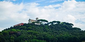 Hill houses in Tuscany Stock Photos