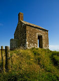 Old stone house. On top of a hill Stock Photos