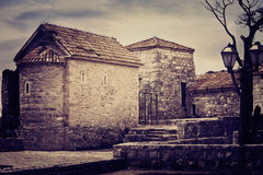Old stone house. In Old Town of Budva Montenegro Royalty Free Stock Photos
