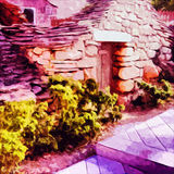 Old Stone House. Digital painting of an old stone house royalty free illustration