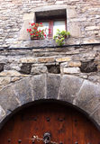 Old stone house door Royalty Free Stock Photos