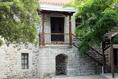 Old stone house entrance Royalty Free Stock Images