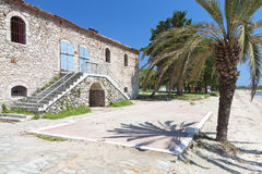 Old stone house at Halkidiki in Greece Royalty Free Stock Photo