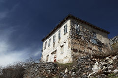 Old stone house on a hill in Lazaropole. Republic of Macedonia Stock Image