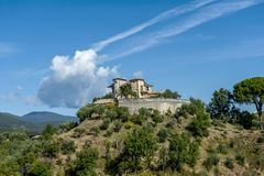 Hill houses in Calabria, Italy royalty free stock photo