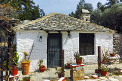 Old Stone House In Village Of Aliki,Thassos Island, Greece Stock Photography