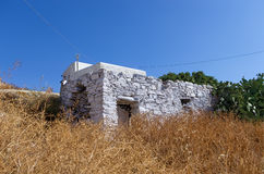 Old stone house in Iraklia island, Greece Stock Image