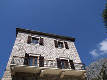 Old stone house in Kotor. Perfectly restored old stone house with stone balcony in Kotor, Montenegro Stock Photography