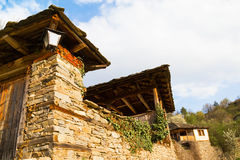 Old stone house in Leshten, Bulgaria Royalty Free Stock Photos