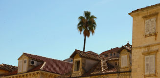 Old Stone House Roofs Royalty Free Stock Photography