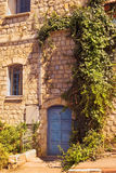 Old stone house in Safed, Upper Galilee, Israel stock image