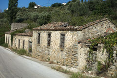 Old stone house in Samothrace Royalty Free Stock Photography
