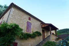 Old stone house, south of France Stock Photography