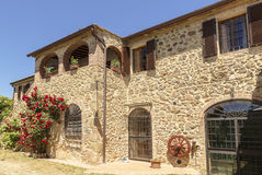 Old stone house in Tuscany Stock Image