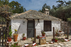 Old stone house in village of Aliki, Thassos island, Greece Stock Photography