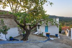 Old stone house in the village of Theologos. Thassos island, Gre Stock Photos