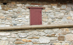 Old stone house wall and window. Detail Royalty Free Stock Images