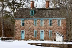 The Old Stone House. This old stone house in winter after a snowfall Royalty Free Stock Image