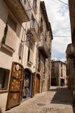 Old stone houses in Besalu Catalunya Spain Stock Images