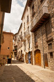 Old stone houses in Besalu Catalunya Spain Stock Image