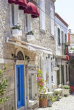 Old stone houses,hotels and shops Royalty Free Stock Photography