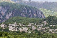 Old stone houses in the village Monodendri of Zagoria, Epirus, W Royalty Free Stock Photos