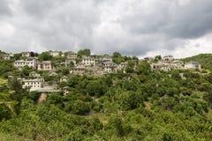 Old stone houses in the village Vitsa of Zagoria, Epirus, Wester Royalty Free Stock Image