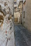 Old stone houses and wall in historic acient city old town architecture stlye Stock Images