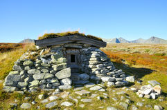 Old stone hut stock image