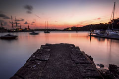 An Old Stone Jetty Royalty Free Stock Images