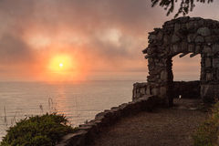Old Stone Lookout, Cape Perpetua Royalty Free Stock Image