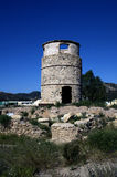 Old stone made watch tower in Cartagena,Spain Stock Photos