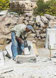 Old stone mason Stock Photos