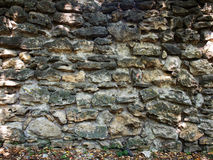 Old stone masonry. Old masonry from grey stone closeup for background or textures stock photo