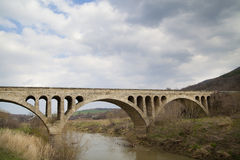 Old stone middle age bridge in Bulgaria Royalty Free Stock Photography