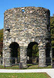 Old Stone Mill. The Old Stone Mill in Newport, Rhode Island.  Theories abound as to its origin from Vikings to Native Americans, to colonists, to Governor Royalty Free Stock Image