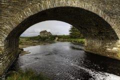 Old stone mill and bridge in Thurso, Scotland Stock Photos