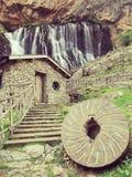 capuzbaşı waterfall stock image