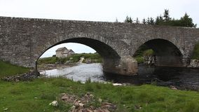 An old stone mill in Thurso, Scotland stock video footage