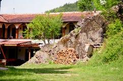 Old stone monastery in a mountain Royalty Free Stock Photos