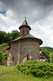 Old stone monastery in rural Romania Royalty Free Stock Photo
